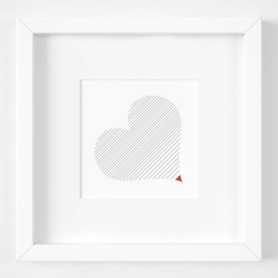 Heart printable ::: Digital download ::: Show your love or friendship! Great gift for Valentine's Day, birthdays, housewarmings, engagements and other special occasions ::: A click is all you need to instantly download on your computer. Print, frame and that's it! ::: Graphic art by Luberlu Design