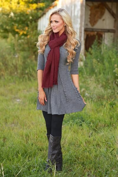 Wildest Dreams Sweater Dress - Charcoal