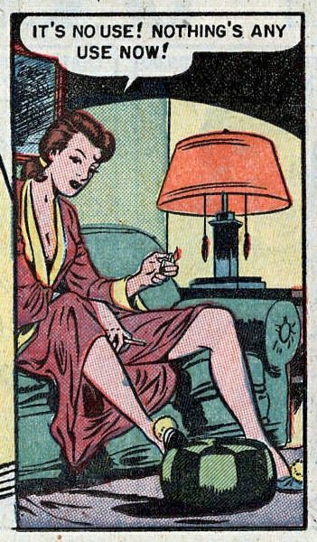 "Comic Girls Say.. "" It's no use ! Nothing any use now ! ""  #comic #vintage"