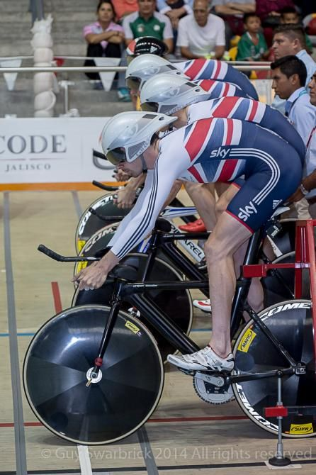 UCI Track World Cup-Great Britain line up for the team pursuit-Photo credit © Guy Swarbrick