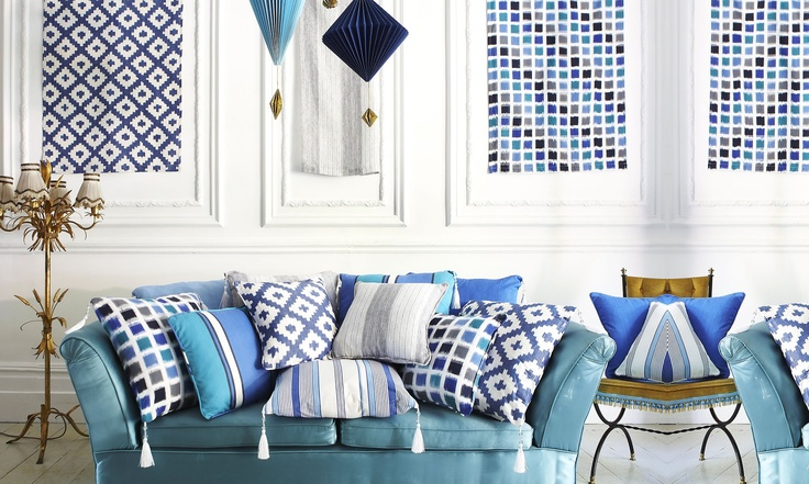 Lakota Collection, Prestigious Textiles, original ikat from India!