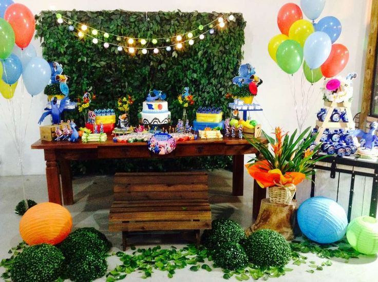 Fantastic decorations at a  Rio birthday party! See more party ideas at CatchMyParty.com!