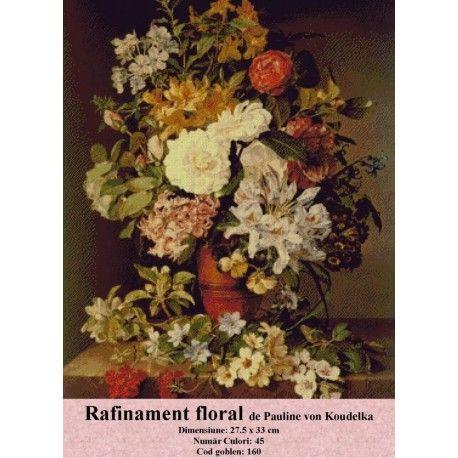 Model goblen Rafinament floral de Pauline Von Koudelka http://set-goblen.ro/flori/3438-rafinament-floral-de-pauline-von-koudelka.html