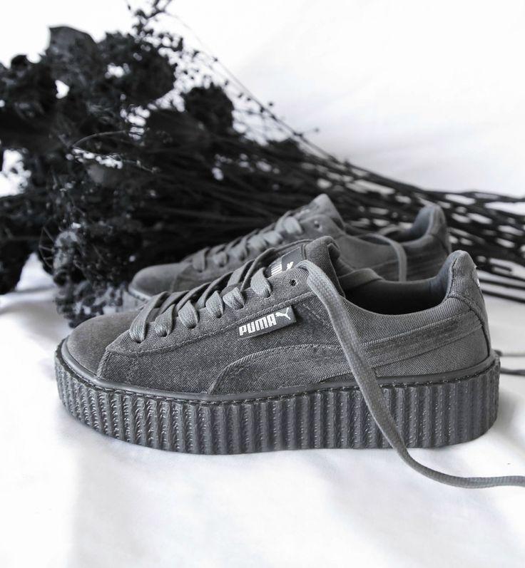 Кроссовки Puma x Rihanna Fenty Suede Creeper Velvet Grey Арт. 1386