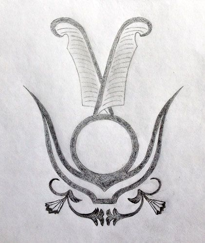 Egyptian Sacred Tattoo Design - Layers of Symbolism in Elegant Simplicity