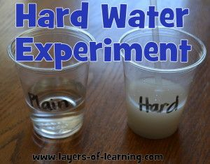 Hard Water Experiment - comparing the characteristics of hard and ...