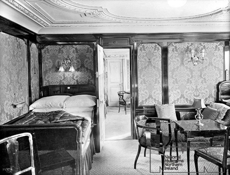 Titanic first class suite bedroom 'b60': History, First Class, Bedrooms B60, Four-Post, Class Bedrooms, First Class, Rmstitan, Rms Titanic, Class Stateroom