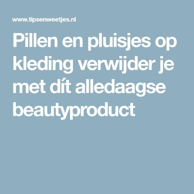 Pillen en pluisjes op kleding verwijder je met dít alledaagse beautyproduct