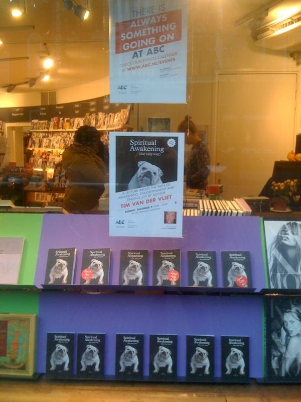 ABC bookstore in Amsterdam... Spiritual Awakening (the easy way) on the roll!!!