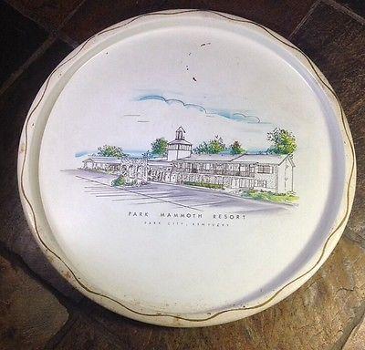 Vintage-Nashco-Serving-Tray-Metal-Park-Mammoth-Resort-Kentucky-Toleware