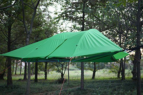 Jungle Tent Hammock with Mosquito Net, UMsky Connect 3-Person 4-Season Tree Tent Hammock Portable lanyard outdoor mosquito bar Sleeping hammock swing Bed Hanging Bed for Camping and Hiking