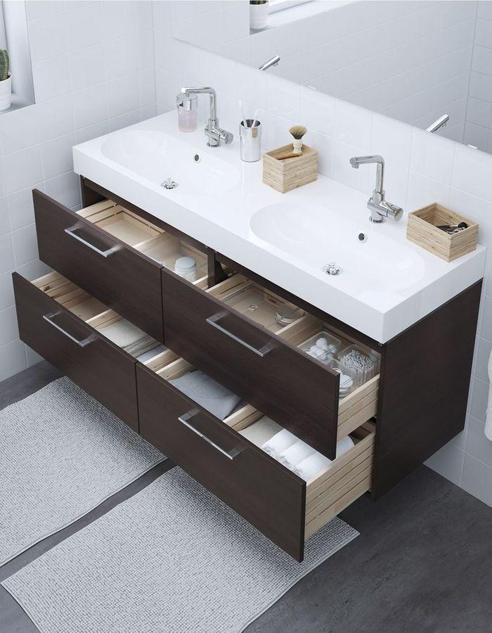 Soldes Ikea Ete 2018 5 Pieces A Shopper Elle Decoration Double Vasque Salle De Bain Lavabo Double Vasque Design Salle D Eau