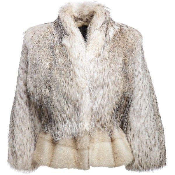 LISKA Cropped fur coat ($8,090) ❤ liked on Polyvore