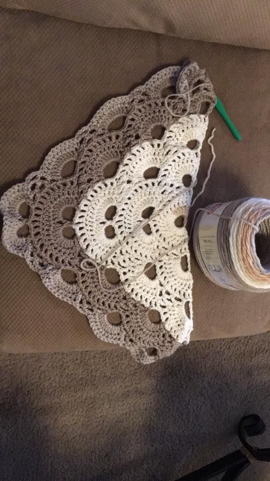 Follow my Pinterest page for more great ideas just like this one: Triangle Shawl using Caron Cakes yarn