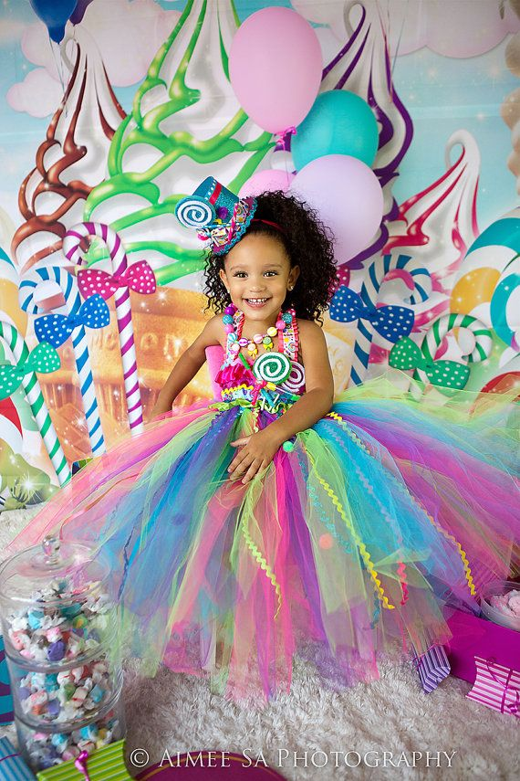 candy land party candy land dress Candyland tutu dressCandy land tutu dress candy by GlitterMeBaby, $65.00