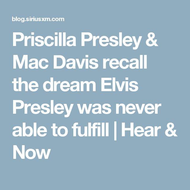 Priscilla Presley & Mac Davis recall the dream Elvis Presley was never able to fulfill | Hear & Now