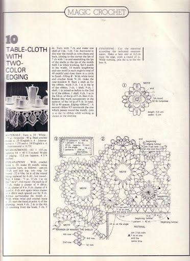 crochet bruges square