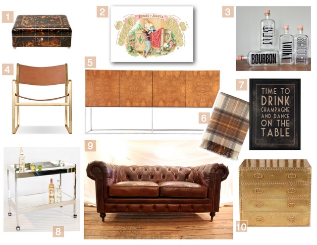 design board: cigar lounge