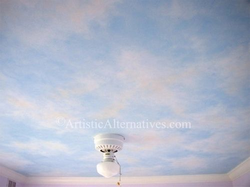 http://www.artisticalternatives.com/ceiling_clouds_a.jpg: I really want to paint my bedroom ceiling like the sky!