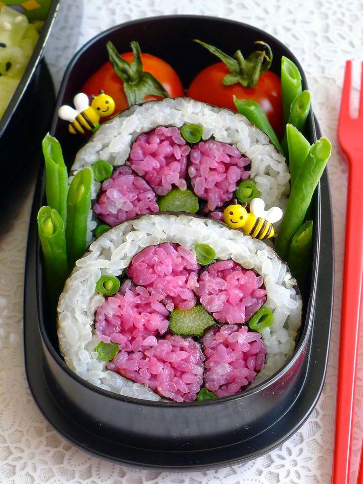 Recettes pour mon bentô: Sushi Art rolls (tuto) fleurs