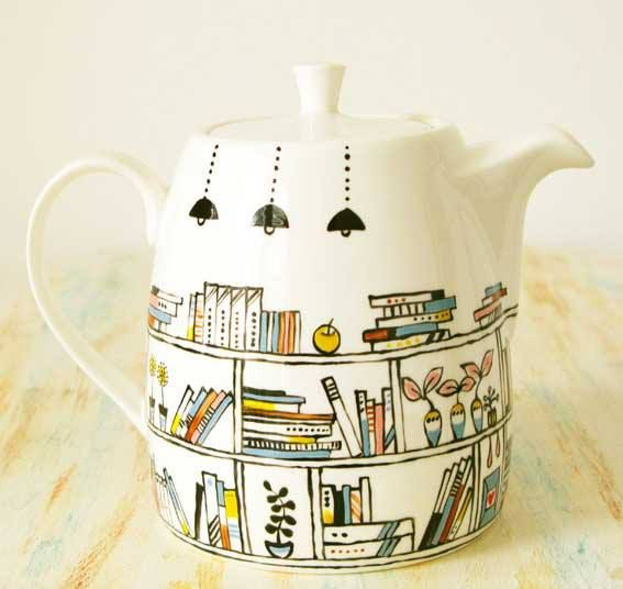 Books teapot adds a touch of bookish to any party. Get inspired and read more indie books at www.indiereader.com.