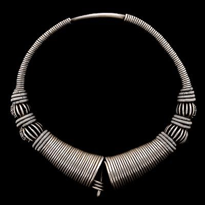 Antique Tribal And Ethnic Indian Silver Necklace