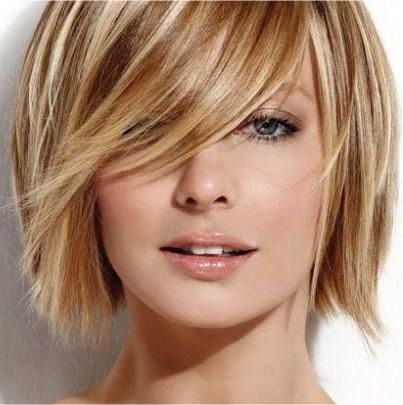 Cute short blonde hair cut... maybe I should cut my hair... but it took so long to grow! Decisions, decisions