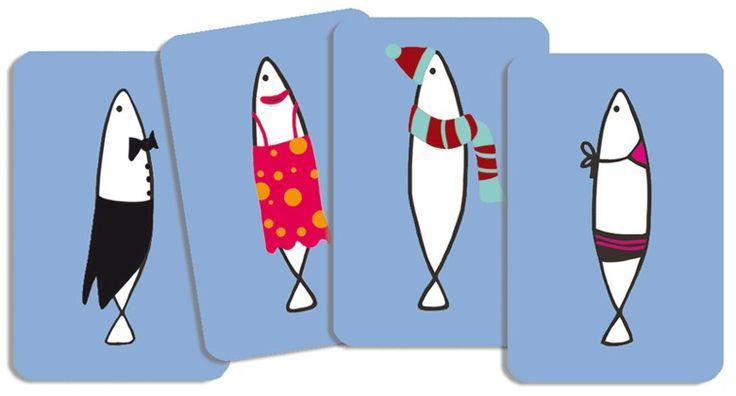 Sardines- memória kártyajáték mókás szardíniákkal (Djeco)