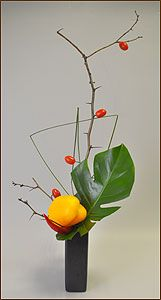 Ikebana. Chinara Munduzbaeva. Workshop Vegetables and Fruits