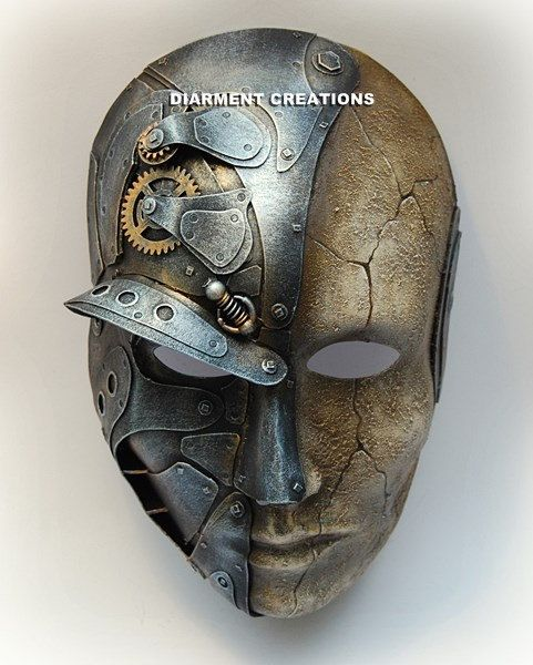 Steampunk Metal and Sand Mask by diarmentcreations on Etsy, $83.00
