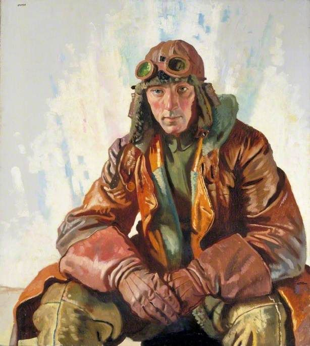 William Orpen - The Non-Commissioned Officer Pilot, Royal Flying Corps: Flight Sergeant W. G. Bennett