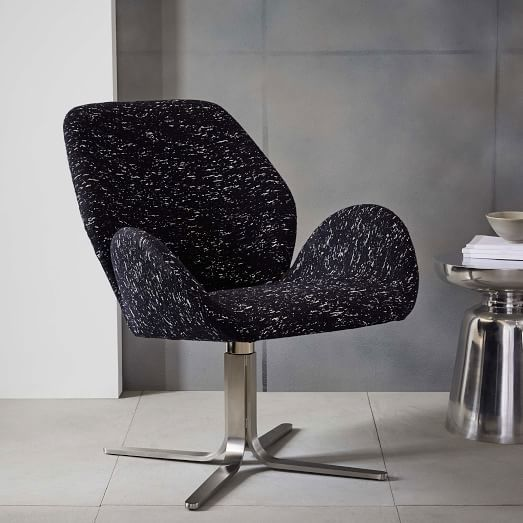 Aluna Upholstered Swivel Chair | West Elm