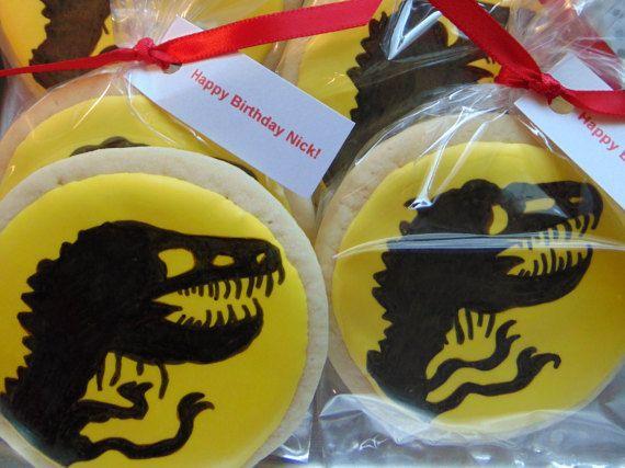 Jurassic Park Cookie by TreatsbuyTerri on Etsy