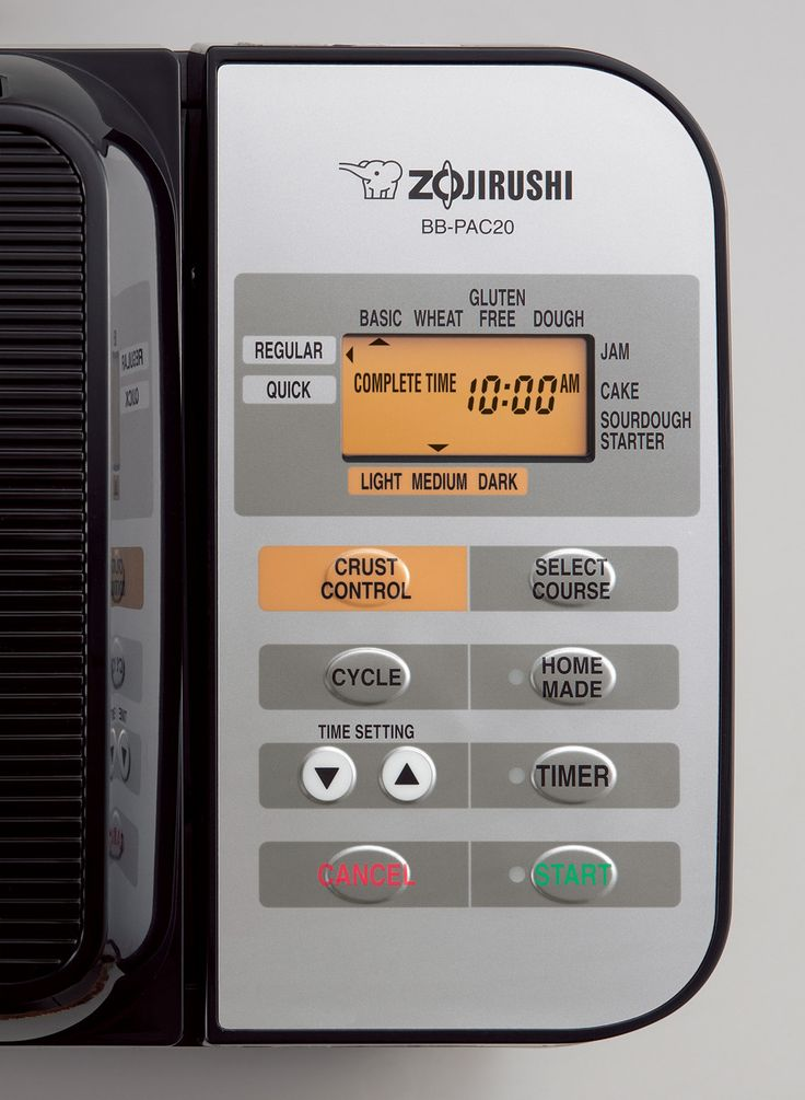 Zojirushi Bread Machine (stainless steel) Here are some features we love about this machine: - Additional heater on lid for perfectly brown crust - Removable, non-stick bread pan for easy cleaning - 1