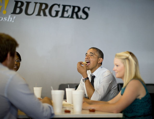 28 OMG! President Obama eats at South Miami burger joint President ...