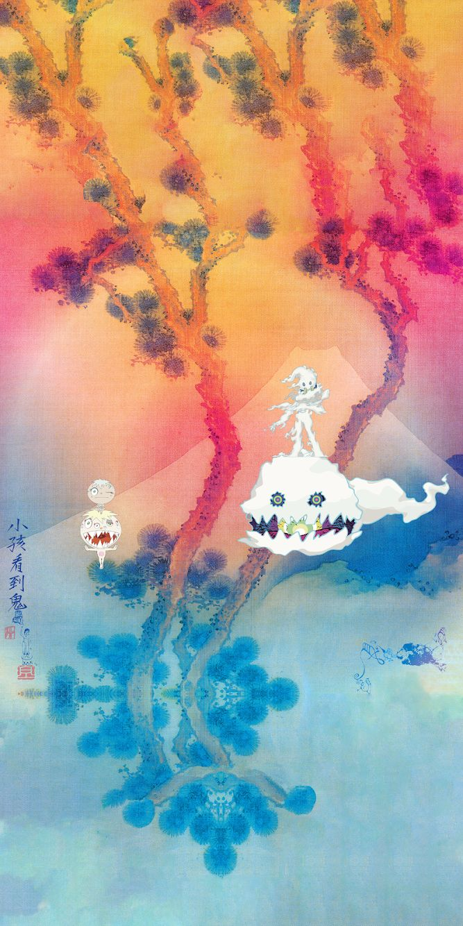 Kids See Ghosts (iPhone wallpaper) Album on Imgur, kids