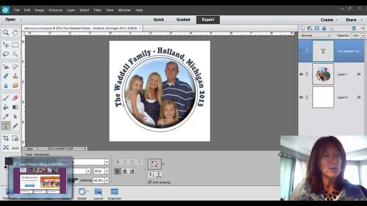 Learn how to put text on a circle in Photoshop Elements Version 12. Go to…