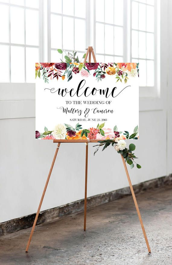 Wedding Sign Welcome To Our Wedding Frame Wedding Printable