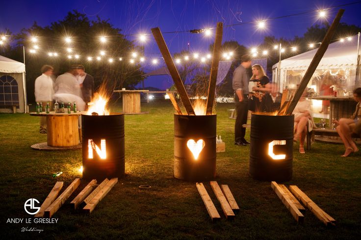 Personalized fire pits for Nick and Ches, image taken by Andy Le Gresley