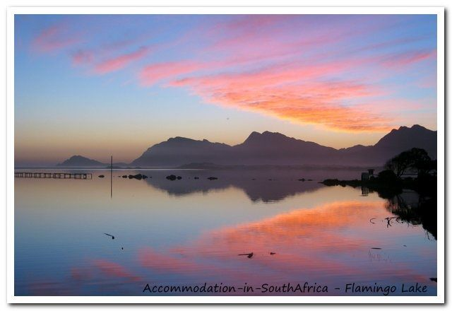Watch and enjoy the sunsets at Flamingo Lake. http://www.accommodation-in-southafrica.co.za/WesternCape/Hermanus/FlamingoLakeSelfCateringCottages.aspx