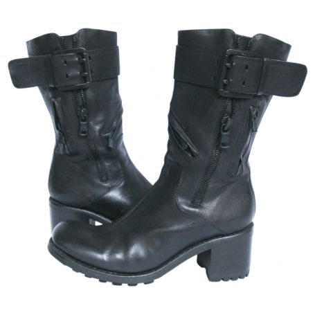 Free Lance - Damen - Biker 7 Zip Boot Star - Stiefeletten & Boots - schwarz BAeb1quJi