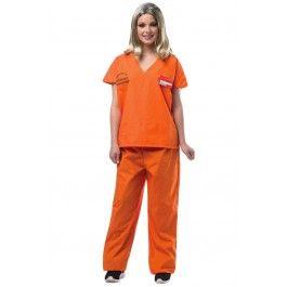Women's Orange is the New Black Orange Prisoner Jump Suit #piperchapman #orangeisthenewblack #women #jumpsuit #prisoner #halloween #costume #rebelcircus