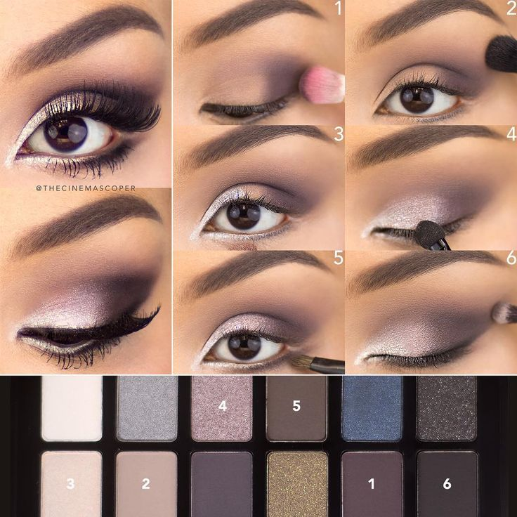 The Steps To Yesterdays Muted Purple Eye Using -4344