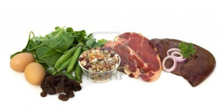 Iron Enriched Foods -  eggs yokes, spinach, peas, beans, ground beef, chicken, spinach, collards, Beans, lentils, chick peas, soybeans, Artichokes, raisins