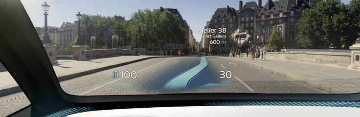 Auto manufacturers have been working on AR Augmented Reality. AR systems can project navigation and other information about 23 - 49 feet in front of you.