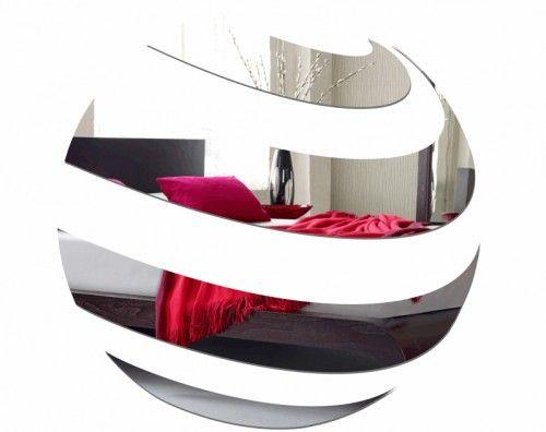 Dekoračné zrkadlové nálepky v okrúhlom tvare