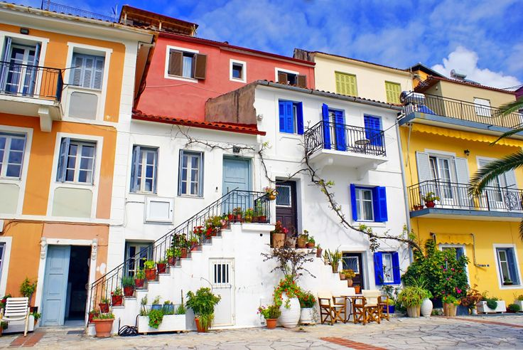 Traditional Greek fishing village of Parga, Preveza