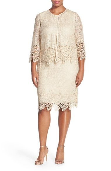 Alex Evenings Lace Jacket Dress (Plus Size) available at #Nordstrom