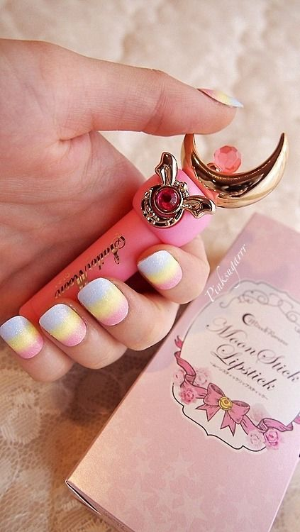 My sailor moon miracle romance moon stick lipstick finally arrived today! ♡