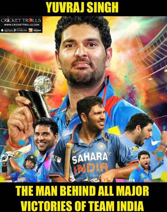 Yuvraj Singh : The CHAMPION For more cricket fun click: http://ift.tt/2gY9BIZ - http://ift.tt/1ZZ3e4d